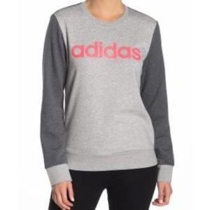 Women's Adidas Color block Logo Pullover Sweater